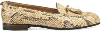 Gucci Python tassel loafer