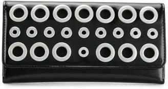 Diesel eyelets continental wallet