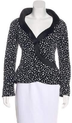 Giorgio Armani Satin-Trimmed Textured Jacket