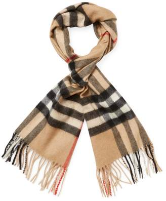 "Burberry Women's Classic Check Cashmere Long Scarf, 66"" x 12"""