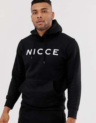 Nicce hoodie in black with logo