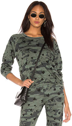 Monrow Camo Raglan Sweatshirt