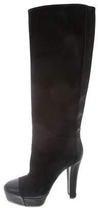 Viktor & Rolf Suede & Leather Platform Boots
