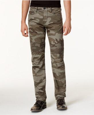 True Religion Men's Geno Slim-Fit Camo-Print Moto Jeans $249 thestylecure.com