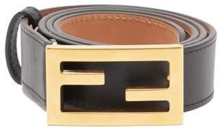 Fendi Ff Buckle Leather Belt - Womens - Black