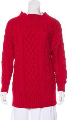 Self-Portrait Cable Knit Long Sleeve Sweater