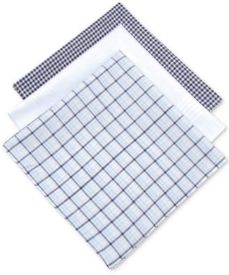 Club Room Men 3-Pc. Check Handkerchief Set