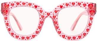 Gucci Heart-embellished cat-eye sunglasses