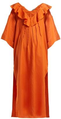 Three Graces London Inez Linen Kaftan - Womens - Orange