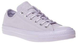 Converse New Womens Lilac Purple All Star Ox Suede Trainers Canvas Lace Up
