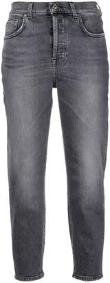 7 For All Mankind cropped faded jeans