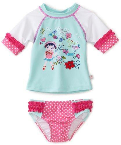 Floatimini Girls 2-6x Reesy Chelly Rashguard Bathing Suit