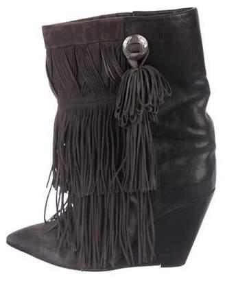 Isabel Marant Fringe Wedge Boots