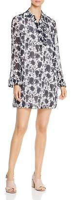 Tory Burch Livia Textured Silk Print Dress