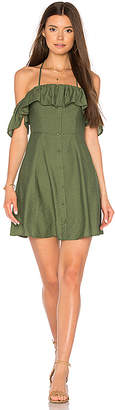 Line & Dot Leon Dress in Olive $87 thestylecure.com