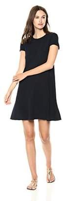 Three Dots Women's Eco Knit Loose Short Pocket Dress