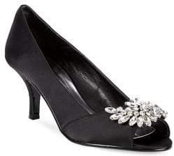 Caparros Oracle Bejeweled Peep-Toe Pumps