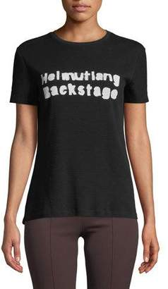 Helmut Lang Backstage Waffle-Knit Crewneck Graphic Tee