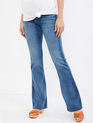 """7 For All Mankind Pea Collection Secret Fit Belly """"A"""" Pocket Flare Maternity Jeans"""