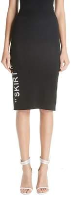 Off-White Longuette Knit Skirt