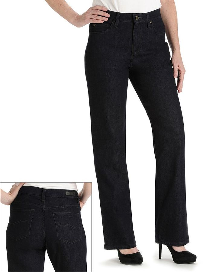 Lee relaxed fit straight-leg jeans - women's
