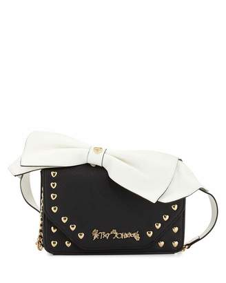 Betsey Johnson Crossbow Crossbody Bag, Black $65 thestylecure.com