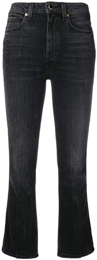 Khaite cropped flared jeans