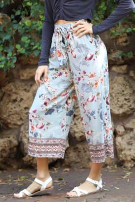 Angie Floral Crop Pants