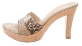 Walter Steiger Snakeskin Platform Sandals
