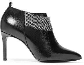 Lanvin Embellished Textured-Leather Boots