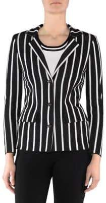 Stizzoli, Plus Size Striped Blazer