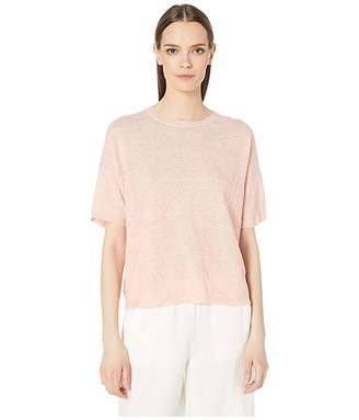 Eileen Fisher Organic Linen Melange Round Neck Tunic