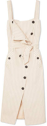 Altuzarra Audrey Button-detailed Ottoman Midi Dress - Beige