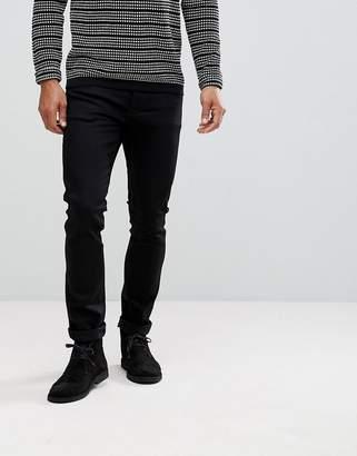 Nudie Jeans Tilted Tor Skinny Fit Jean Dry Cold Black
