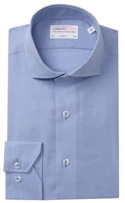 Lorenzo Uomo Weaved Dot Trim Fit Dress Shirt