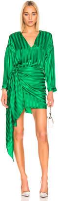 Mason by Michelle Mason Long Sleeve Wrap Dress in Green | FWRD