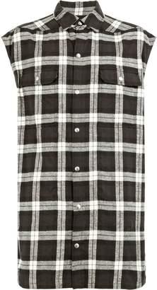 05397240a8302 Mens Sleeveless Check Shirt - ShopStyle Canada