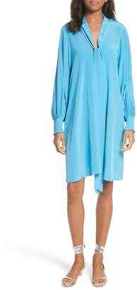 Tibi Arielle Tie Front Silk Shift Dress