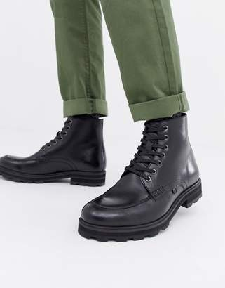 Farah Jeans Chunky Military Lace Up Boot