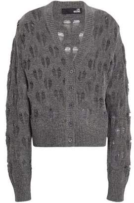 Love Moschino Open-knit Wool-blend Cardigan