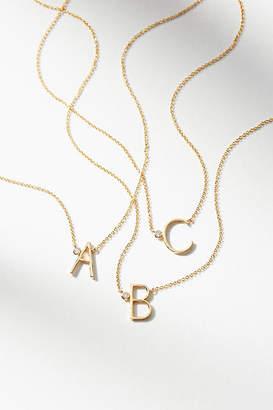 Anthropologie Delicate Monogram Necklace