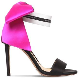 Alexandre Vauthier 100mm Satin Sandals W/ Bow