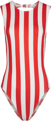 Solid and Striped Cherry Stripe Sharon Swimsuit