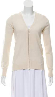 TSE Zip-Up Cashmere Cardigan