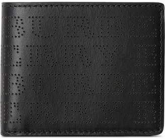 Burberry Perforated Logo Leather Bifold Wallet