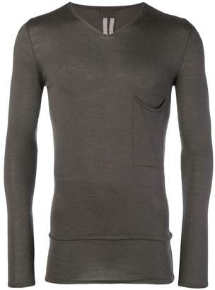 Rick Owens slim V-neck sweater