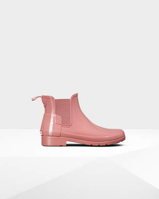 Hunter women's original refined chelsea gloss boots