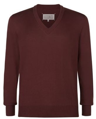 Mens Leather Elbow Patch Sweater - ShopStyle
