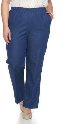 Alfred Dunner Plus Size Studio Pull-On Denim Pants