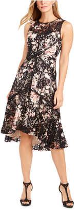 Taylor High-Low Lace Midi Dress